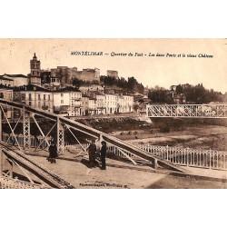 ABAO 26 - Drôme [26] Montélimar - Quartier du Fust. Les Deux Ponts et le vieux Château.