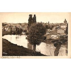 ABAO 42 - Loire [42] Charlieu - Vue sur le Sornin et la Ville.