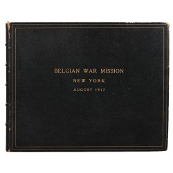 1900- [1914-1918] Album de photographies «Belgian War Mission New York August 1917»