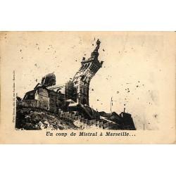 ABAO 13 - Bouches-du-Rhône [13] Marseille -Un coup de Mistral à Marseille.