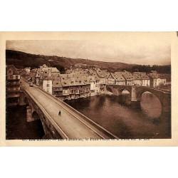 ABAO 12 - Aveyron [12] Espalion - Les Tanneries, le Pont-Vieux et le Pont sur le Lot.