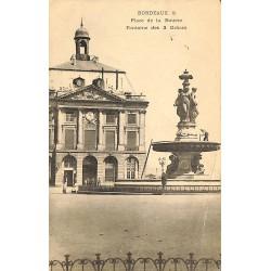 ABAO 33 - Gironde [33] Bordeaux - Place de la Bourse. Fontaine des 3 Grâces.