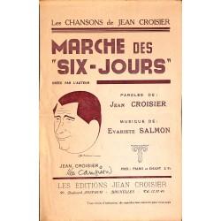 """Partitions Croisier (Jean) - Marche des """"six-jours""""."""