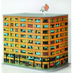 "ABAO Bandes dessinées Coffret ""Millésimes"" Lombard - Immeuble Tintin. TL num 998 ex."