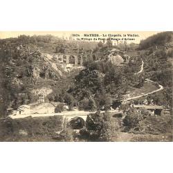 63 - Puy-de-Dôme [63] Mayres - La Chapelle, le Viaduc, le Village du Pont et Route d'Ariane.
