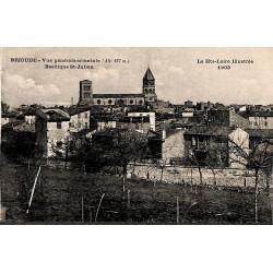 43 - Haute Loire [43] Brioude - Vue générale orientale. Basilique St-Julien.