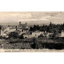 43 - Haute Loire [43] Brioude - Vue générale Sud-Ouest. Centre renommé pour la pêche au saumon.