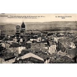 43 - Haute Loire [43] Brioude - Vue méridionale prise de St-Laurent. Perspective de la Vallée de l'Allier et de Lamothe.