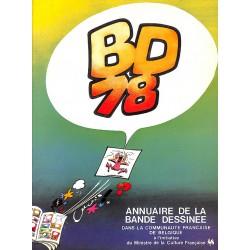 ABAO Bandes dessinées BD 78 Annuaire de la Bande Dessinée dans la Communauté Française de Belgique.