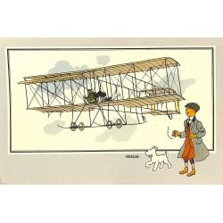 ABAO Bandes dessinées [Hergé] Tintin - Voir et Savoir : Aviation, collection B série 1 chromo n°06