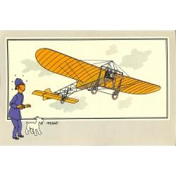 ABAO Bandes dessinées [Hergé] Tintin - Voir et Savoir : Aviation, collection B série 1 chromo n°04