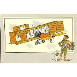 ABAO Bandes dessinées [Hergé] Tintin - Voir et Savoir : Aviation, collection B série 1 chromo n°02