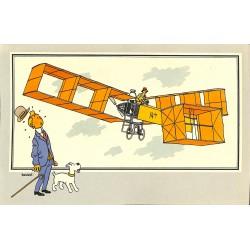 ABAO Bandes dessinées [Hergé] Tintin - Voir et Savoir : Aviation, collection B série 1 chromo n°01
