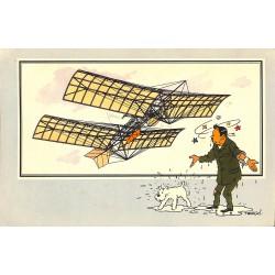ABAO Bandes dessinées [Hergé] Tintin - Voir et Savoir : Aviation, album 1, série 3 chromo n°12