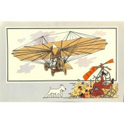 ABAO Bandes dessinées [Hergé] Tintin - Voir et Savoir : Aviation, album 1, série 6 chromo n°14