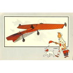 ABAO Bandes dessinées [Hergé] Tintin - Voir et Savoir : Aviation, album 1, série 4 chromo n°21