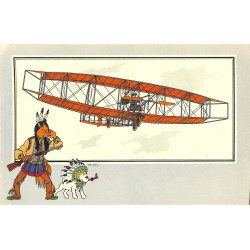 ABAO Bandes dessinées [Hergé] Tintin - Voir et Savoir : Aviation, album 1, série 6 chromo n°24