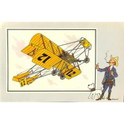 ABAO Bandes dessinées [Hergé] Tintin - Voir et Savoir : Aviation, album 1, série 5 chromo n°32