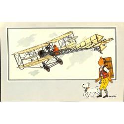 ABAO Bandes dessinées [Hergé] Tintin - Voir et Savoir : Aviation, album 1, série 4 chromo n°37