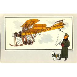 ABAO Bandes dessinées [Hergé] Tintin - Voir et Savoir : Aviation, album 1, série 3 chromo n°41