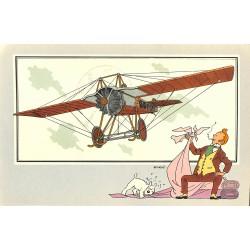 ABAO Bandes dessinées [Hergé] Tintin - Voir et Savoir : Aviation, album 1, série 5 chromo n°43
