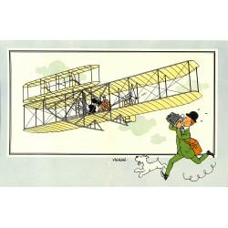 ABAO Bandes dessinées [Hergé] Tintin - Voir et Savoir : Aviation, album 1, série 1 chromo n°27