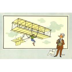 ABAO Bandes dessinées [Hergé] Tintin - Voir et Savoir : Aviation, album 1, série 1 chromo n°09