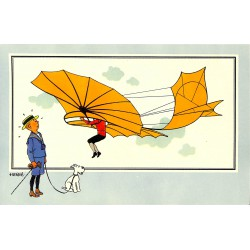 ABAO Bandes dessinées [Hergé] Tintin - Voir et Savoir : Aviation, album 1, série 1 chromo n°07