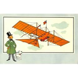 ABAO Bandes dessinées [Hergé] Tintin - Voir et Savoir : Aviation, album 1, série 1 chromo n°02