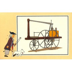 ABAO Bandes dessinées [Hergé] Tintin - Voir et Savoir : Automobile origines à 1900, série 2 chromo n°04