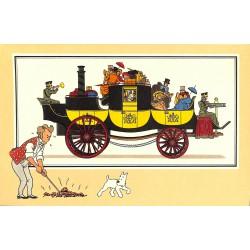ABAO Bandes dessinées [Hergé] Tintin - Voir et Savoir : Automobile origines à 1900, série 2 chromo n°12