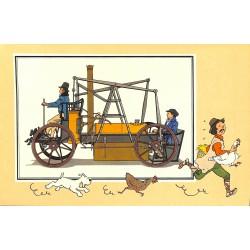 ABAO Bandes dessinées [Hergé] Tintin - Voir et Savoir : Automobile origines à 1900, série 2 chromo n°13