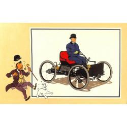ABAO Bandes dessinées [Hergé] Tintin - Voir et Savoir : Automobile origines à 1900, série 2 chromo n°45