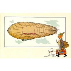 ABAO Bandes dessinées [Hergé] Tintin - Voir et Savoir : Aérostation, série 6, chromo n°53