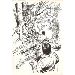 ABAO Originaux Aidans (Edouard) - Les Franval, dessin original.