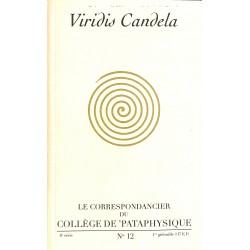 ABAO Pataphysique Le Correspondancier du Collège de Pataphysique n°12