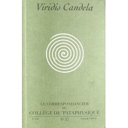 Pataphysique Le Correspondancier du Collège de Pataphysique n°17
