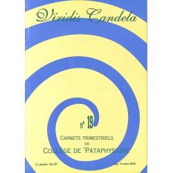 Pataphysique Carnets du Collège de Pataphysique n°19