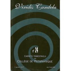 Pataphysique Carnets du Collège de Pataphysique n°24