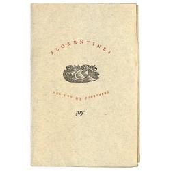 Grands papiers Pourtalès (Guy de) - Florentines. EO.