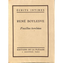 ABAO Grands papiers Boylesve (René) - Feuilles tombées. EO.