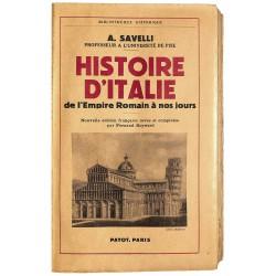 ABAO 1900- Savelli (A.) - Histoire d'Italie.