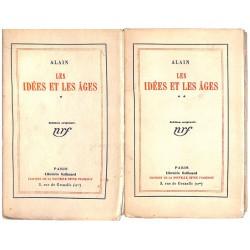 ABAO 1900- Alain (Emile-AugusteChartier, dit) - Les Idées et les âges. 2 tomes. EO.