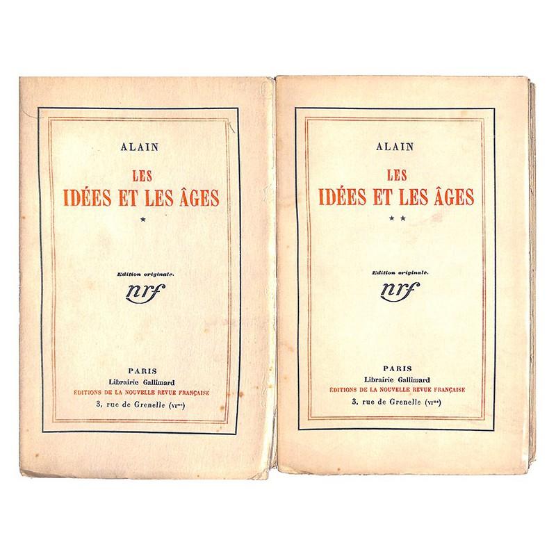 1900- Alain (Emile-AugusteChartier, dit) - Les Idées et les âges. 2 tomes. EO.