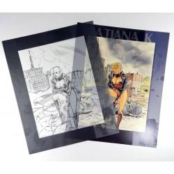 ABAO Sérigraphies & posters Tatiana K. Tiré à part 400 ex. n. & s.