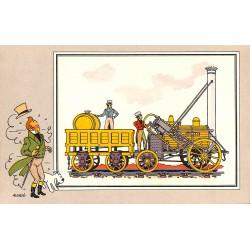ABAO Bandes dessinées [Hergé] Tintin - Voir et Savoir : Le Chemin de fer, série 1, chromo n°05