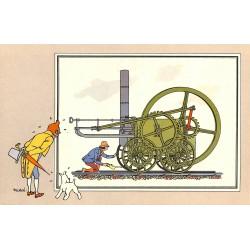 ABAO Bandes dessinées [Hergé] Tintin - Voir et Savoir : Le Chemin de fer, série 1, chromo n°01