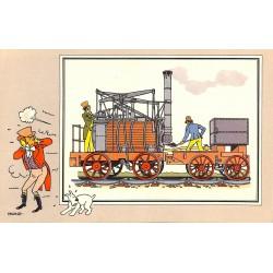 ABAO Bandes dessinées [Hergé] Tintin - Voir et Savoir : Le Chemin de fer, série 1, chromo n°03