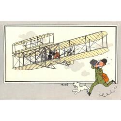 ABAO Bandes dessinées [Hergé] Tintin - Voir et Savoir : Aviation, série 1 chromo n°06