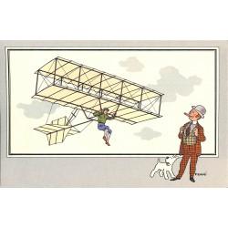 ABAO Bandes dessinées [Hergé] Tintin - Voir et Savoir : Aviation, série 1 chromo n°04